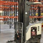 crown reach forklift