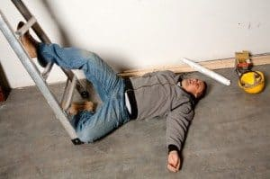 man fell off a ladder and had an accident - WarehouseIQ.com